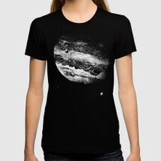 Jupiter & 3 Minions Womens Fitted Tee Black SMALL