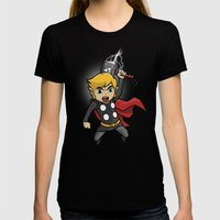 Song Of Storms Womens Fitted Tee Black SMALL