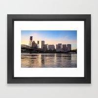 That Portland Skyline 2 Framed Art Print