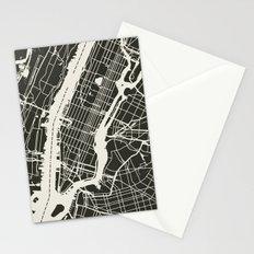 New York City Map_BLACK Stationery Cards