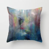 A Cool Walk Throw Pillow