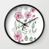 Watercolor Flower Wall Clock
