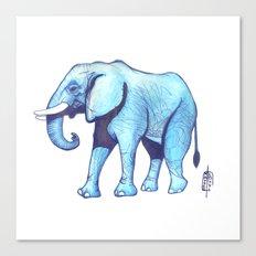 Elefante Blu Canvas Print