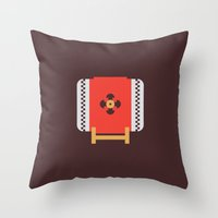 Japan Taiko Drum Throw Pillow