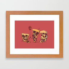 Pizza Party Framed Art Print