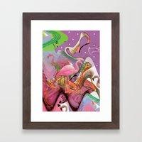 FLAMINGO ACID TRIP  Framed Art Print
