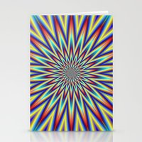 Red Blue And Yellow Supe… Stationery Cards