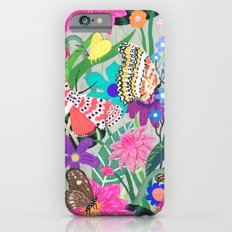 Butterflies and Moths Pattern - Grey iPhone 6s Slim Case