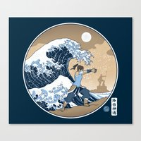 The Great Wave of Republic City Canvas Print