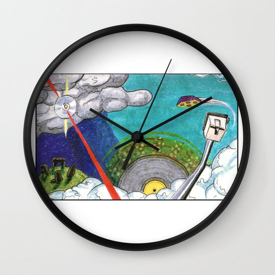 Music on the Horizon by Cap Blackard Wall Clock