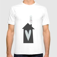 Home, Love, Illustration… Mens Fitted Tee White SMALL