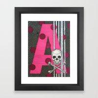 Pink Skull A Framed Art Print