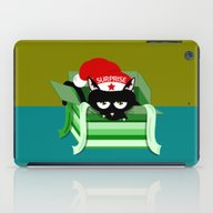 Naughty Cat Surprise iPad Case