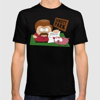 South Parks and Rec Mens Fitted Tee Black SMALL