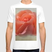 Romantic Rose Mens Fitted Tee White SMALL