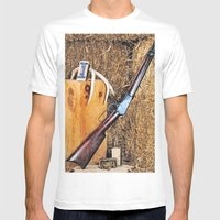 Winchester Rifle Mens Fitted Tee White SMALL