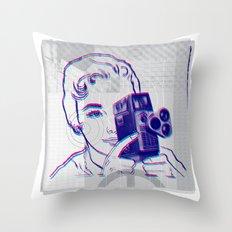 3D Camera Throw Pillow