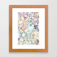 Watercolour Quilt Framed Art Print