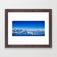 Ice lagoon 4 Iceland Framed Art Print