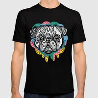Pug Face Mens Fitted Tee Black SMALL