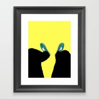 Down. Framed Art Print