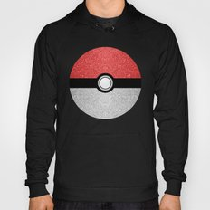 Sparkly red and silver sparkles poke ball Hoody