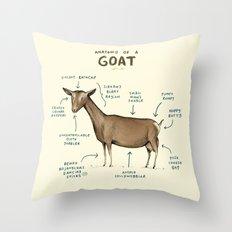 Anatomy of a Goat Throw Pillow