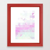 Pink Triangle Framed Art Print