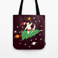 Space christmas Tote Bag