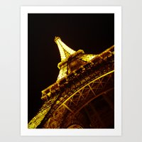 eiffel Art Prints featuring Eiffel by ( ͡° ͜ʖ ͡°)