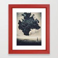 The Selfie Dark Surrealism Framed Art Print