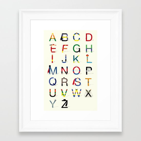 ABC SH Framed Art Print