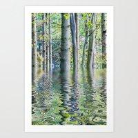 SERENE GREEN SCENE Art Print