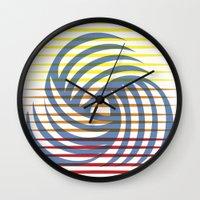 Wirbelnde Sonne Wall Clock
