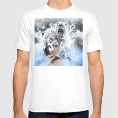 Arctic Tears White Mens Fitted Tee SMALL