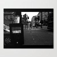 Pedestrians Wait Canvas Print