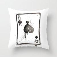 Be an Ace Throw Pillow