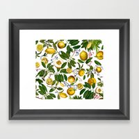 LEMON TREE White Framed Art Print