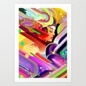 Neon Dreams Art Print