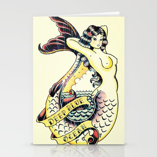 Mermaid Stationery Card