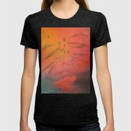 Head In The Clouds Womens Fitted Tee Tri-Black X-LARGE
