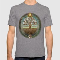 Ouroboros Mens Fitted Tee Tri-Grey SMALL
