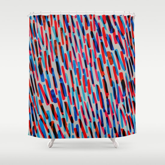 Blue And Red Shower Curtain By Georgiana Paraschiv Society6