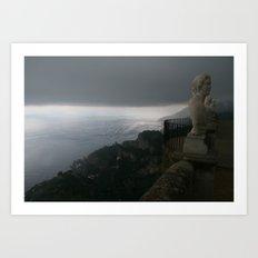 Statue in Ravello, Italy at Villa Cimbrone Art Print