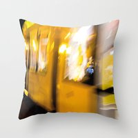 M Tram In Berlin Throw Pillow