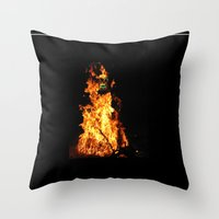Fire demon Throw Pillow