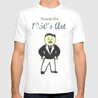 1950s Artwork Mens Fitted Tee White SMALL