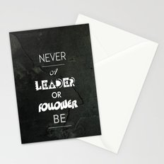 NVR A LDR OR FLWR B Stationery Cards