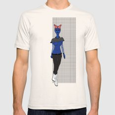 Galactic Street Queen; Martian Babe Mens Fitted Tee Natural SMALL