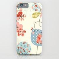 iPhone & iPod Case featuring Spring Birdie by shiny orange dreams